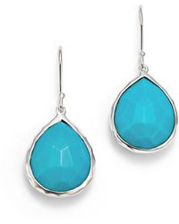 Ippolita - Small Turquoise Teardrop Earrings - Lyst