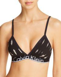 Calvin Klein - Id Cotton Triangle Bralette - Lyst
