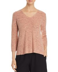 Eileen Fisher - V-neck Marled Sweater - Lyst