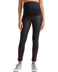 Ingrid & Isabel - Maternity Leather-like Active Leggings W/ Crossover Panel - Lyst