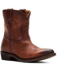 Frye - Women's Billy Short Leather Western Boots - Lyst