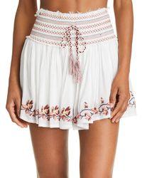 58bb3eeb4eb05 Surf Gypsy - Embroidered Mini Skirt Swim Cover-up - Lyst