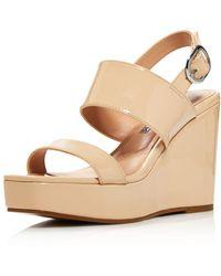 Charles David - Women's Jordan Patent Leather Platform Wedge Sandals - Lyst