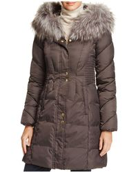 Via Spiga - Smocked Waist Puffer Coat - Lyst