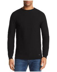 Emporio Armani | Textured Knit Sweater | Lyst
