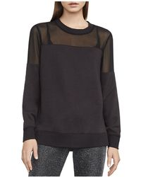 BCBGMAXAZRIA | Martina Mixed Media Sweatshirt | Lyst