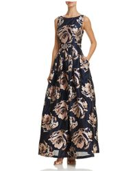 Eliza J - Embellished Floral Ball Gown - Lyst