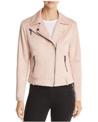 Kenneth Cole - Faux-suede Moto Jacket - Lyst