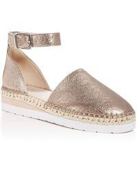 Kenneth Cole - Women's Babbot Leather D'orsay Espadrille Platform Sandals - Lyst