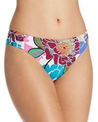 Trina Turk - Bloom Shirred Side Hipster Bikini Bottom - Lyst