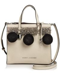 Marc Jacobs - The Mini Grind Beads & Poms Leather Crossbody - Lyst