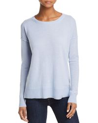 Aqua - Cashmere High/low Cashmere Sweater - Lyst