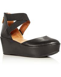 Gentle Souls - Nyssa Crisscross Ankle Strap Platform Court Shoes - Lyst