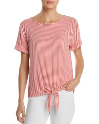 Kim & Cami - Striped Tie-waist Top - Lyst