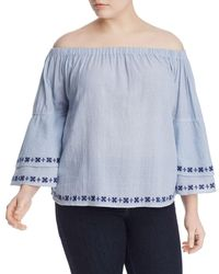 Lucky Brand - Off-the-shoulder Embroidered Top - Lyst
