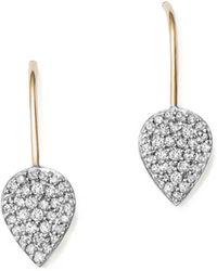 Adina Reyter - Sterling Silver And 14k Yellow Gold Pavé Diamond Teardrop Earrings - Lyst