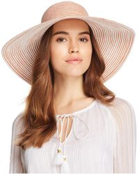 Aqua - Two-tone Packable Floppy Hat - Lyst