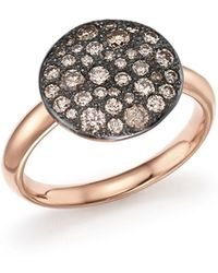 Pomellato - Sabbia Ring With Brown Diamonds In Burnished 18k Rose Gold - Lyst