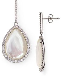 Nadri - Sterling Mother-of-pearl Teardrop Earrings - Lyst