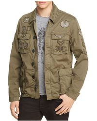 John Varvatos - Military Patched Jacket - Lyst