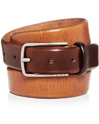 BOSS - Chuck 3.0 Distressed Burnished Leather Belt - Lyst