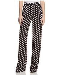MICHAEL Michael Kors - Pleated Polka-dot Trousers - Lyst
