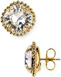 Sorrelli - Round Crystal Stud Earrings - Lyst