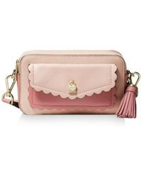 4a9b2690fd7bb MICHAEL Michael Kors - Crossbodies Small Pocket Camera Bag In Soft Pink  Grained Calfskin - Lyst