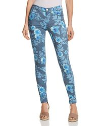 9e3be2c5855c J Brand - 620 Mid Rise Super Skinny Jeans In Floral Rain - Lyst