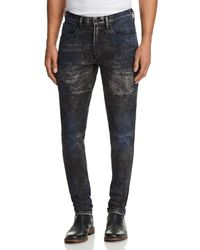 PRPS - Stretch Slim Fit Moto Jeans In Parade - Lyst
