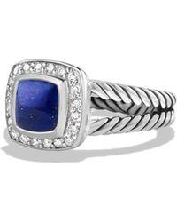 David Yurman - Petite Albion Ring With Lapis Lazuli And Diamonds - Lyst