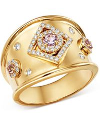 Kiki McDonough - 18k Yellow Gold Jemima Amethyst & Diamond Ring - Lyst
