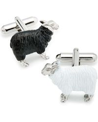 Link Up - Black Sheep & White Sheep Cufflinks - Lyst