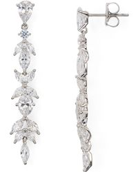 Nadri - Linear Cubic Zirconia Earrings - Lyst