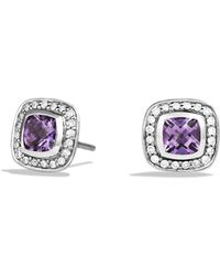 David Yurman | Petite Albion Earrings With Amethyst And Diamonds | Lyst