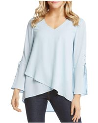 Karen Kane - Lace-up Bell-sleeve Top - Lyst
