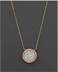Bloomingdale's - Pavé Diamond Circle Pendant Necklace In 14k Yellow Gold, .35 Ct. T.w. - Lyst