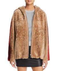 Maximilian - Hooded Lamb Shearling Jacket - Lyst