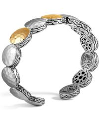 John Hardy - Sterling Silver And 18k Bonded Gold Palu Three Station Flex Cuff, 12.5mm - Lyst