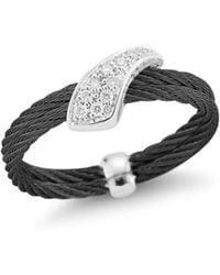 Alor - Noir Woven Diamond Ring - Lyst