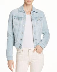 AG Jeans - Robyn Fitted Denim Jacket In Salt Ruins - Lyst