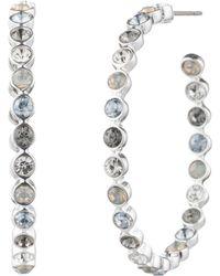 Aqua - Multicolor Hoop Earrings - Lyst