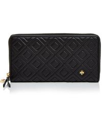Tory Burch - Fleming Zip Continental Leather Wallet - Lyst