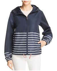 Vince Camuto - Coated Striped Rain Jacket - Lyst