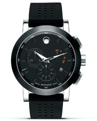 "Movado - ""museum®"" Sport Stainless Steel Chronograph Watch, 44mm - Lyst"