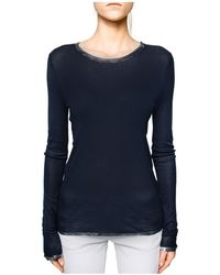 Zadig & Voltaire - Willy Foil-trim Spi Tee - Lyst