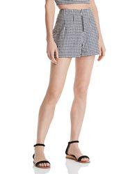 Guess Dawn Gingham Seersucker Shorts - Blue