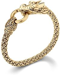 John Hardy - Naga 18k Yellow Gold Dragon Bracelet With Gold Ring - Lyst