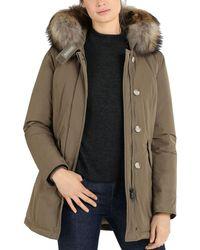 Woolrich - Fur Trim Luxury Arctic Parka - Lyst