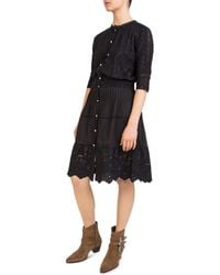The Kooples - Pleated Embroidered Lace-detail Dress - Lyst